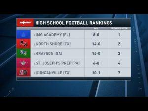 Top 25 High School Football Rankings : Week 21